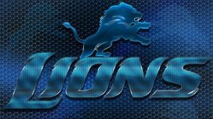 Detroit Lions Heavy Metal 16x9 Text N Logo Wallpaper