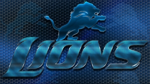 Detroit Lions Heavy Metal 16x9 Text N Logo Wallpaper