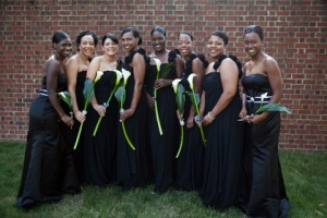 black women wedding photo